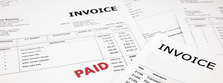 invoice for website development